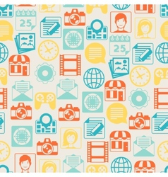 Seamless pattern with web and mobile icons vector