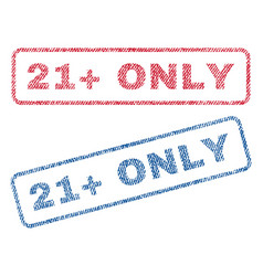 21 plus only textile stamps vector image vector image