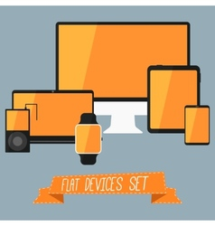 Set of modern user interface - digital tablet vector