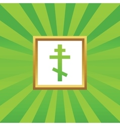 Orthodox cross picture icon vector