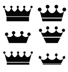 Black crowns vector