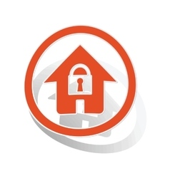 Locked house sign sticker orange vector