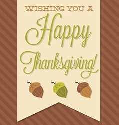 Sash happy thanksgiving card in format vector
