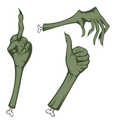 Scary hands vector