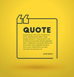 Quote blank design template typographic background vector