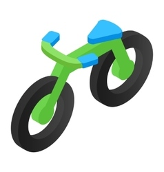Bicycle isometric 3d icon vector