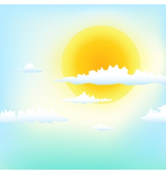 good weather vector image