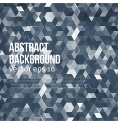 Abstract design hexagonal background vector
