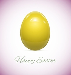 Yellow easter egg isolated on white vector