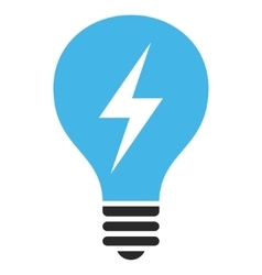 Electrical bulb flat pictogram vector