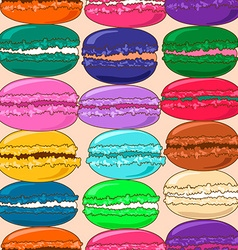 Seamless pattern of french macaroons vector
