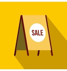 Sandwich board with text sale icon flat style vector