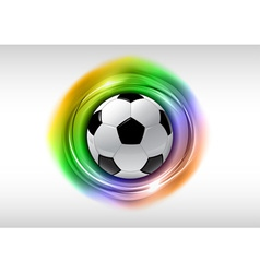 Football abstract circle on white rainbow vector