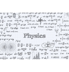 Physics pattern background in exercise book vector