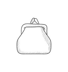 Purse sketch icon vector image