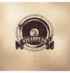 Steampunk emblem dears vector