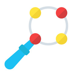 Baby rattle toy flat icon kid and shake vector