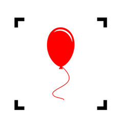 balloon sign red icon inside vector image vector image