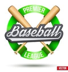Baseball circle symbol vector