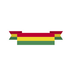 bolivia flag ribbon isolated bolivian tape banner vector image