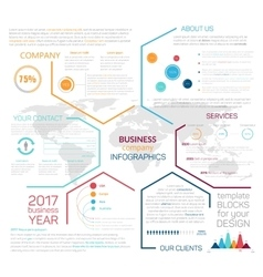 Business site landing page or infographics vector