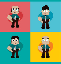 Businessman manager at work thumb down cartoon art vector