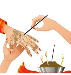 Ceremony at henna night vector