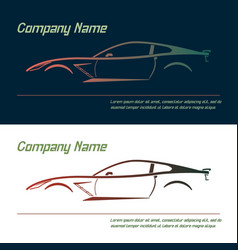 Company logo icon element template car vector