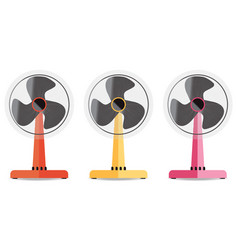 Desktop electric fan vector