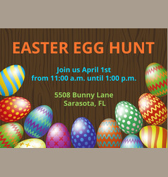 Easter hunt invitation card vector