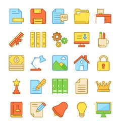 Education icons 4 vector