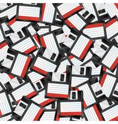 floppy disks background vector image vector image
