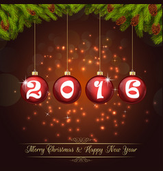 happy new year for 2016 background vector image vector image