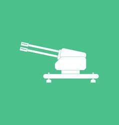 Icon anti aircraft gun vector