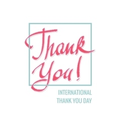 International thank you day vector