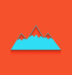 Mountain sign whitish icon vector