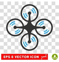 Quadcopter screw rotation eps icon vector