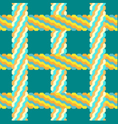 Seamless braid pattern vector