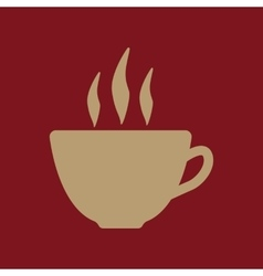 The coffee and cup icon tea symbol flat vector