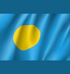 Waving flag of republic palau vector