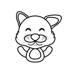Wolf animal toy outline vector