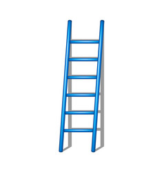 wooden ladder in blue design with shadow vector image