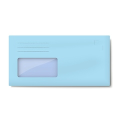 Dl light blue envelope with window for address vector