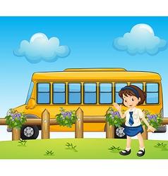 Cartoon Schoolbus vector image