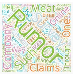 Modified animal meat and online surveys text vector