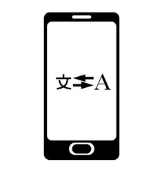 phone translation icon simple style vector image