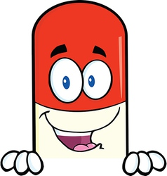 Pill cartoon vector