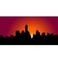 New york sunset vector