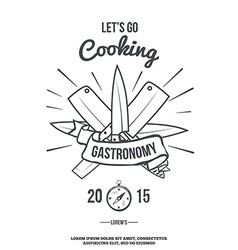 Chefs vintage crossed knives t-shirt graphics vector