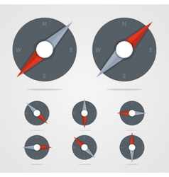 Set of compass icons with different direction in vector